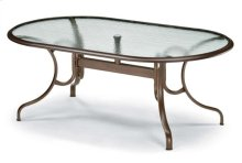 "43"" x 75"" Oval Dining Table w/ hole Ogee Rim"