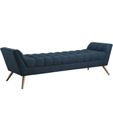 Response Upholstered Fabric Bench in Azure Product Image