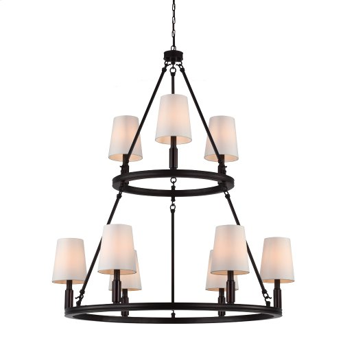 9 - Light Lismore Chandelier