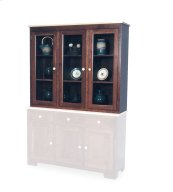 Shaker Closed Hutch Top, Large, Antique Glass