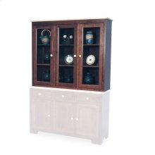 "Shaker Closed Hutch Top, 61 1/2"", Antique Glass"