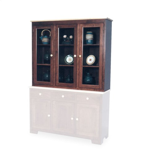 "Shaker Closed Hutch Top, 61 1/2"", Antique Glass"