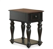 Richland Chairside Table Prestige Black/Ridgway Cherry finish