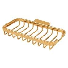 "Wire Basket, 8"" x 4"" Rectangular - PVD Polished Brass"