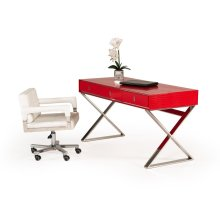 A&X Congress Transitional Red Crocodile Desk
