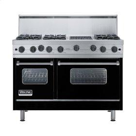 "Black 48"" Open Burner Range - VGIC (48"" wide, six burners 12"" wide char-grill)"