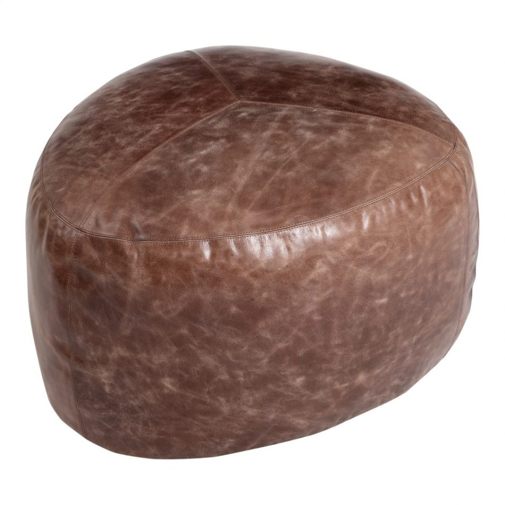 Salvatore Leather Ottoman Antique Brown
