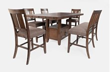 Mission Viejo Counter Table With 4 Stools and Bench