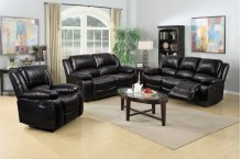 8026 Black Manual Reclining Loveseat