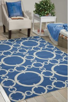 Sun N' Shade Snd02 Navy Rectangle Rug 10' X 13'