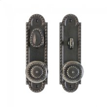 """Corbel Arched Entry Set - 2 1/2"""" x 9"""" Silicon Bronze Brushed"""