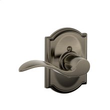 Accent Lever with Camelot trim Non-turning Lock - Antique Pewter