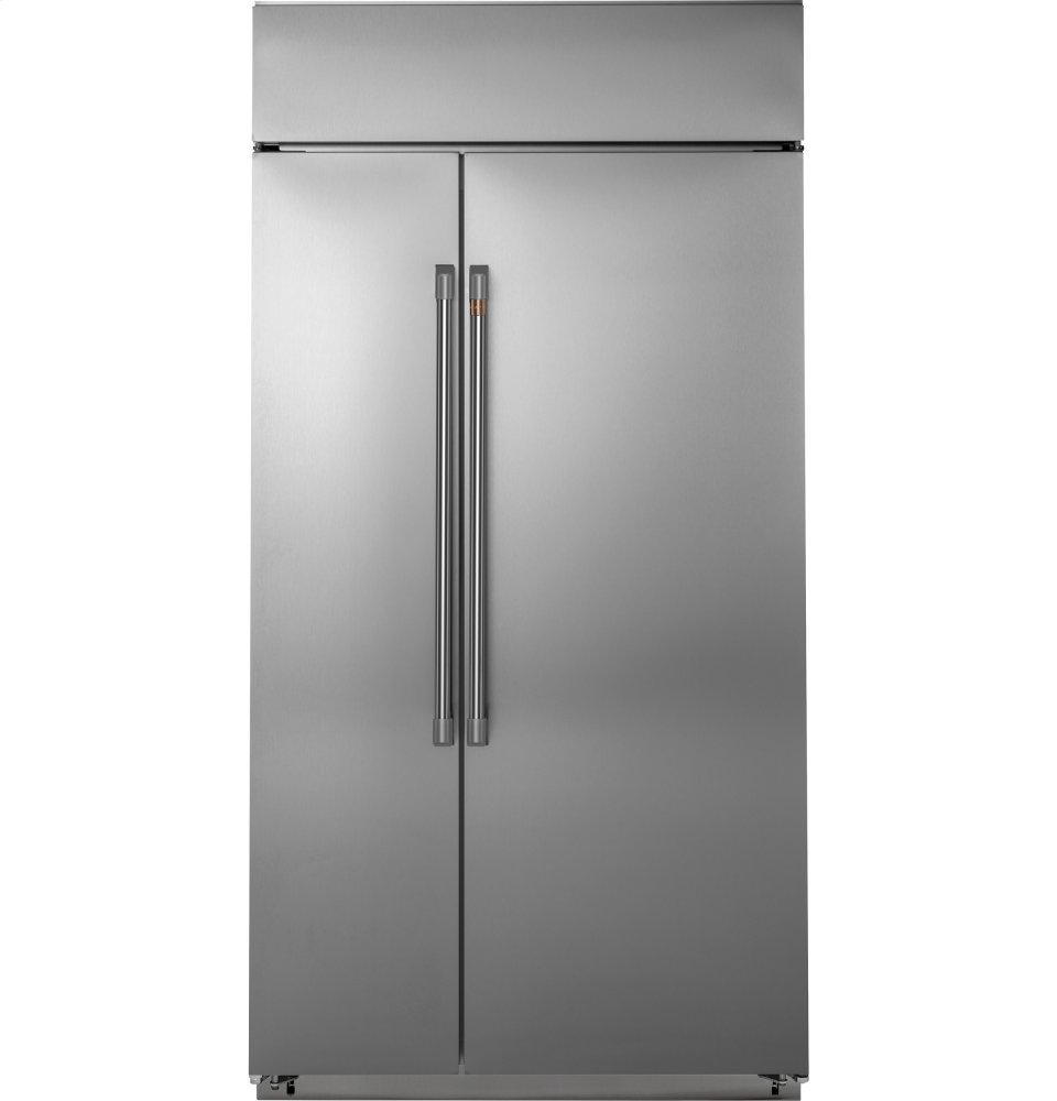 "Cafe Appliances48"" Built-In Side-By-Side Refrigerator"