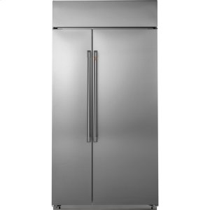 "Cafe Appliances48"" Smart Built-In Side-by-Side Refrigerator"