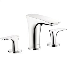 Chrome PuraVida 110 Widespread Faucet without Pop-Up, 1.2 GPM