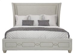 California King-Sized Criteria Upholstered Bed in Criteria Heather Gray (363)