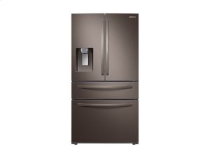 22 cu. ft. 4-Door French Door, Counter Depth Refrigerator with Food Showcase in Tuscan Stainless Steel Product Image