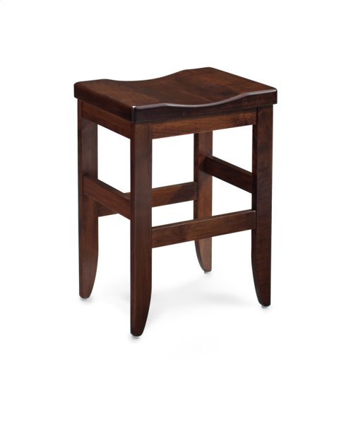 "Bowen Stationary Barstool, Bowen Stationary Barstool, 18""h, Fabric Seat"