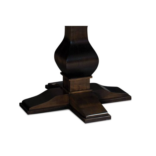 "Crawford Single Pedestal Table, Crawford Single Pedestal Table, 54"", 1-Leaf"
