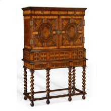 William & Mary Walnut & Oyster Drinks Cabinet