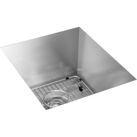 """Elkay Crosstown 16 Gauge Stainless Steel 16"""" x 18-1/2"""" x 10"""", Single Bowl Undermount Sink Kit"""