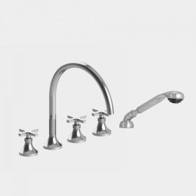 Series 110 Roman Tub Set with Diverter Handshower and Stella X Handle (available as trim only: 1.110893T)