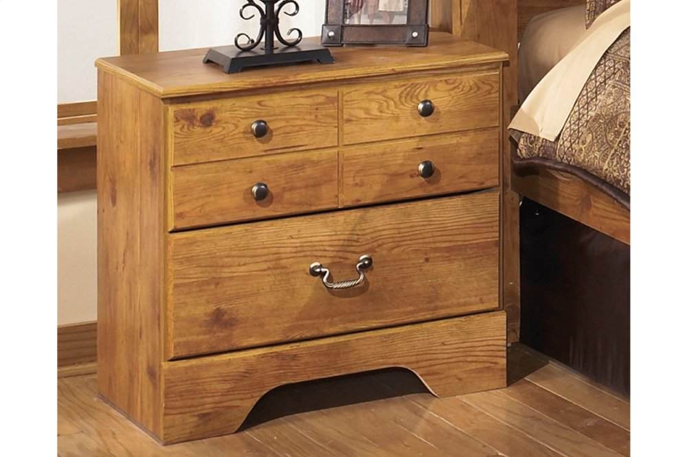 Incroyable Two Drawer Night Stand