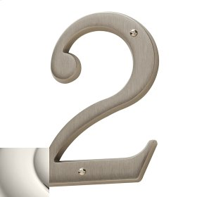 Polished Nickel House Number - 2