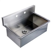 Noah's Collection Utility Series single bowl drop-in or wall mount utility sink.