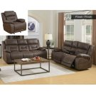 "Aria Pwr-Pwr Recliner Saddle Brown 40.5""x44""x41"" Product Image"
