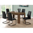 """DINING CHAIR - 2PCS / 39""""H / BLACK LEATHER-LOOK / METAL Product Image"""