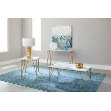 Modern White and Gold Sofa Table