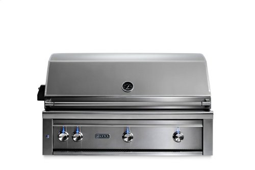 """42"""" Lynx Professional Built In Grill with 1 Trident and 2 Ceramic Burners and Rotisserie, LP"""
