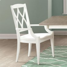 Myra - Xx-back Arm Chair - Paperwhite Finish