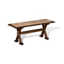 Savannah Side Bench w/ Cushion Seat