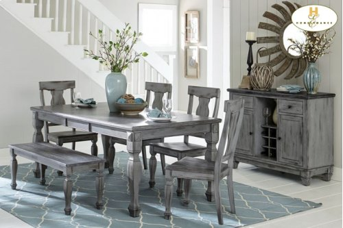 Dining Table 4 Chairs & Bench