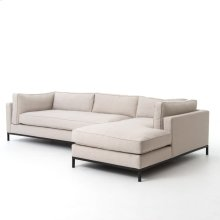 Bennett Moon Cover 2 Piece Sectional W/ Raf Chaise Configuration Grammercy Sectional