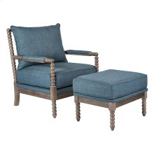 Louis Spindle Chair and Ottoman
