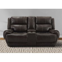 Spencer Cavern Power Console Loveseat