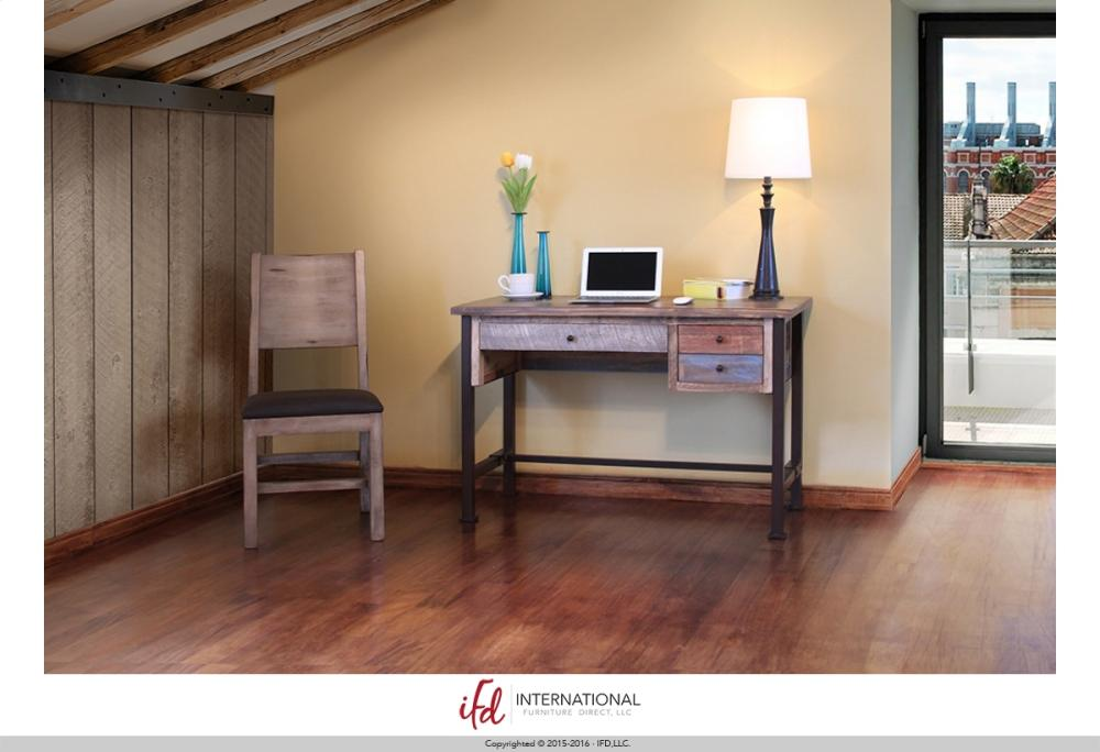 IFD968DESK In By Artisan Home Furniture In Massena, NY   Writing Desk, Reclaimed  Wood Finish