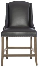 Slope Leather Counter Stool in Smoke Product Image