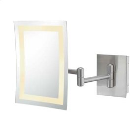 Brushed Nickel Single-Sided LED Rectangular Wall Mirror
