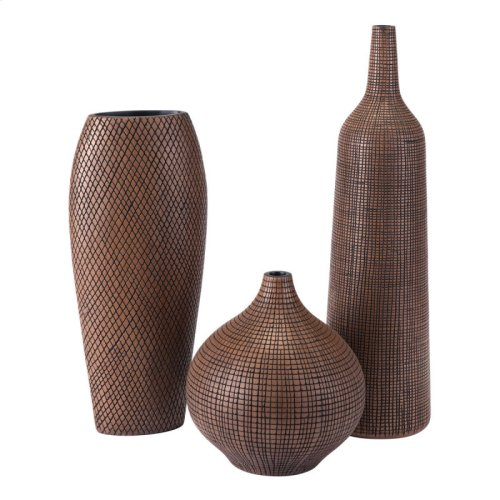 Cuadra Tall Vase Brown