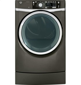 FLOOR MODEL CLEARANCE! GE® 8.3 cu. ft. capacity Right Height Design Front Load electric dryer with steam
