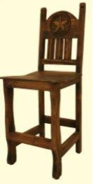 """24"""" Barstool W/Wood Seat and Star Medio Finish Product Image"""