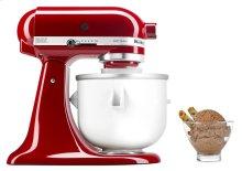 Ice Cream Maker Attachment for 4.8 L Stand Mixer - White