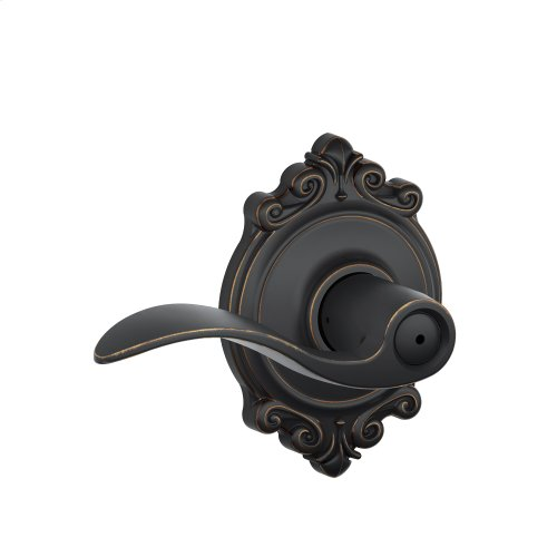 Accent Lever with Brookshire trim Bed & Bath Lock - Aged Bronze