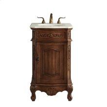 21 In. Single Bathroom Vanity Set In Teak Color