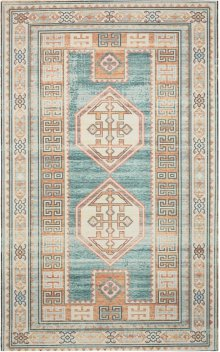 Madera Mad04 Teal Green Rectangle Rug 5' X 7'