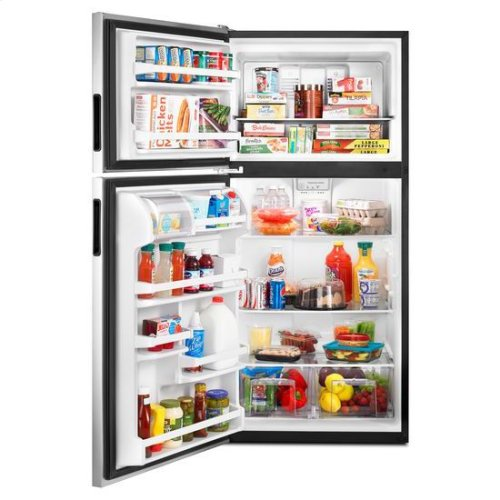 30-inch Amana® Top-Freezer Refrigerator with Glass Shelves - stainless steel